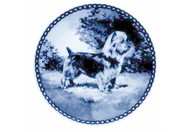 Australian Terrier Danish Blue Dog Plate