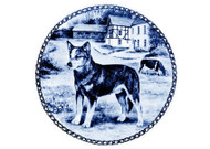 Australian Cattle Dog Danish Blue Dog Plate
