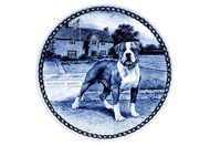 American Bulldog Danish Blue Dog Plate