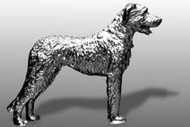 Irish Wolfhound Dog Hood Ornament