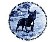 French Bulldog Danish Blue Dog Plate