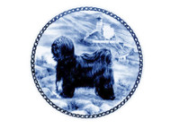 Tibetan Terrier Danish Blue Dog Plate