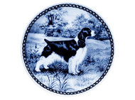 Springer Spaniel (Engish) Danish Blue Plate