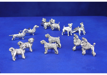 dog breed cuff links many breeds