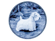 Sealyham Terrier Danish Blue Plate