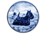 Scottie Danish Blue Plate