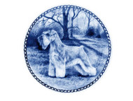 Schnauzer Danish Blue Dog Plate