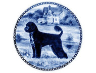 Portuguese Water Dog Danish Blue Dog Plate