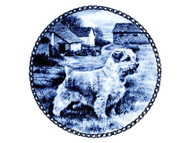 Norfolk Terrier Blue Plate