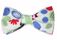 retro fruit bow tie for dogs