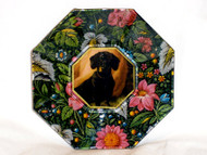 "Dachshund (Black & Tan) 5"" Decoupage Dog Plate"