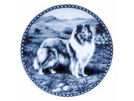 Collie Rough Coat Danish Blue Dog Plate