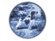 English Cocker Spaniel Danish Blue Dog Plate