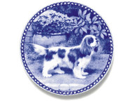 Cavalier King Charles Spaniel Danish Blue Dog Plate