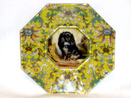 "Cavalier King Charles Spaniel (Black & Tan) 5"" Decoupage Dog Plate"
