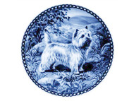 Cairn Terrier Danish Blue Plate