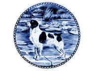 Brittany Spaniel Blue Plate
