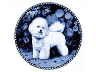 Bichon Frise Danish Blue Dog Plate