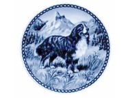 Bernese Mountain Dog Danish Blue Dog Plate