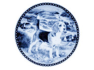 Beagle Danish Blue Dog Plate
