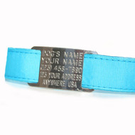 "ID Dog Collar on 1"" Solid Grosgrain Ribbon"