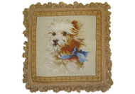 Westie Needlepoint Pillow Antique Image