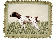 Pointer Needlepoint Pillow