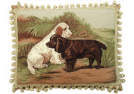 Field Spaniels Needlepoint Pillow