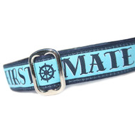 """First Mate Martingale or Metal Clasp Dog Collar 1"""""""