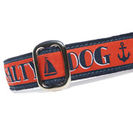 Salty Dog Martingale or Metal Clasp Dog Collar