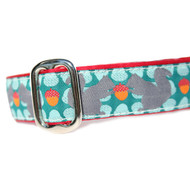 Squirrel with Nut Martingale and Metal Clasp Dog Collar 1""