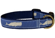 Whale Dog Collar and Leash Blue