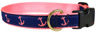 Anchor Dog Collar in Pink and Navy