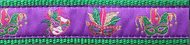 Mardi Gras Dog Collar and Leash