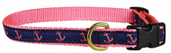 Anchor Dog Collar and Leash (Pink) 5/8""