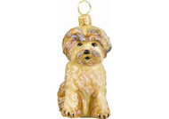 Shorkie Glass Christmas Ornament