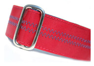 Sailcloth Dog Collar in Salty Port