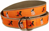"Black Lab Ribbon Belt Orange ""Guard Dog"""