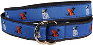 "Black Lab Ribbon Belt Blue ""Guard Dog"""