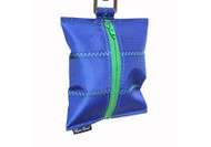 Dog Waste Bag Dispenser in Sailcloth Salty Dog Blue and Green