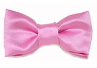 Pink Satin Bow Tie For Dogs