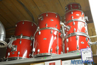Vintage Slingerland 8 Piece Drum Kit Red