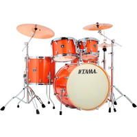 Tama Superstar Classic 5 Piece Drum Kit Bright Orange Sparkle