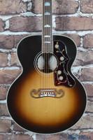 2013 Gibson SJ-200 Standard Acoustic Guitar Vintage Sunburst Headstock Repair