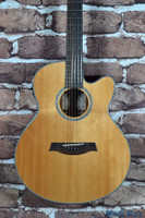 Ibanez AEL108MD 8 String Acoustic Electric Guitar Natural