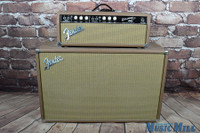 1965 Fender Blackface Bassman Tube Guitar Amp Head & Cab