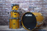 Tama Starclassic Performer Bubinga Birch 4 PC Drum Kit Honey Amber Gold