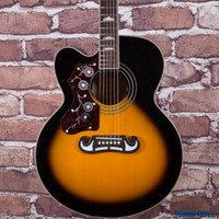 Epiphone EJ-200SCE Left Handed Acoustic Electric Guitar Vintage Sunburst