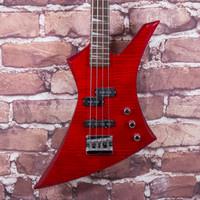 Jackson Kelly Bass Guitar Transparent Red