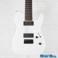 ESP LTD TE-407 7-String Electric Guitar Satin White